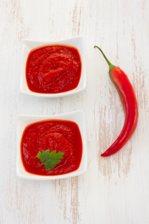 pepper sauce in bowl photo
