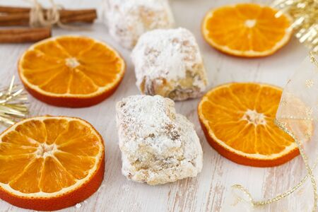 cakes with cinnemon and dry orange photo