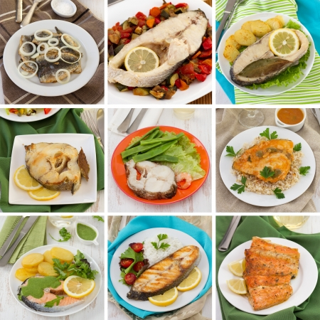 fish collage Stock Photo