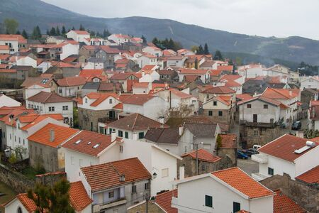village in mountain in Portugal photo