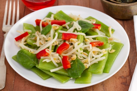 salad with green beans and bean sprouts Stock Photo - 17746185