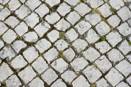 typical portuguese stone pavement photo