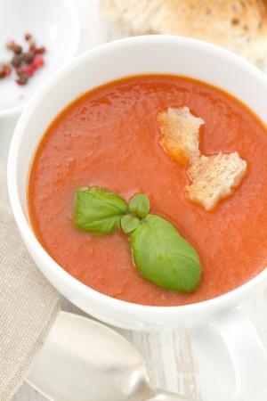 gaspacho: gaspacho in white bowl
