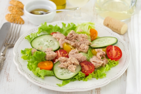 salad with tuna on the plate Stock Photo