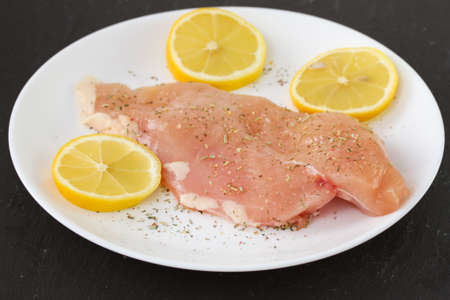 chicken breast with lemon photo