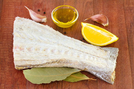 cod fish with rosemary, oil and garlic