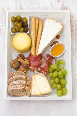 platter: cheese platter Stock Photo