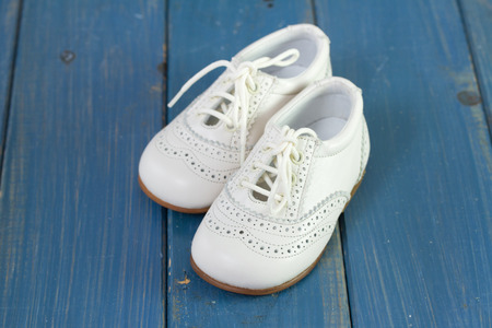 white baby shoes photo