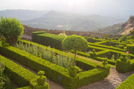 mediaval: garden in Marvao, Portugal Stock Photo