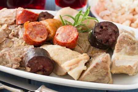 typical portuguese dish cozido a portuguesa Stock Photo