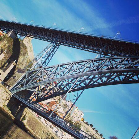 luis: View on bridge Dom Luis in Porto