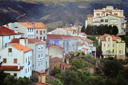 portuguese: view on portuguese village Stock Photo