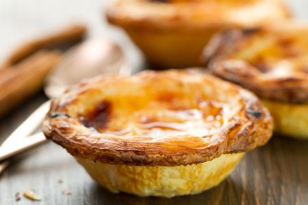 nata: portuguese dessert pasteis de nata Stock Photo
