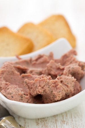 pate: pate with toasts Stock Photo