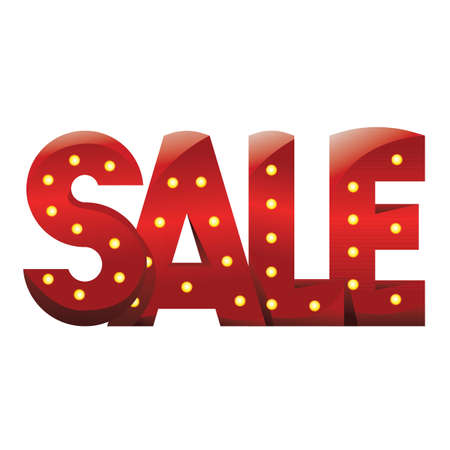 bright: Red bright shiny sign SALE for store
