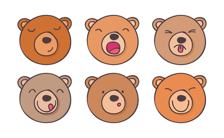 smileys: Set nice  smileys bears with different emotions