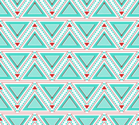delicate: Seamless ethnic abstract geometric pattern in delicate colors Illustration