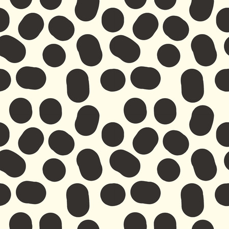 arbitrary: Seamless pattern from black cow spots arbitrary repeating points Illustration