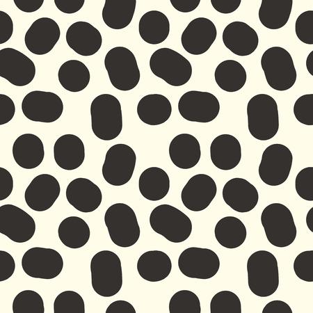 arbitrary: Sin fisuras patr�n de vaca negro de spots de puntos arbitrarios de repetici�n