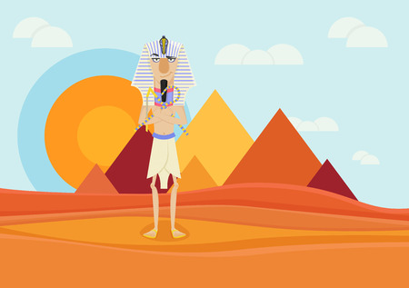 ancient civilization: A Pharaoh of ancient Egypt Illustration