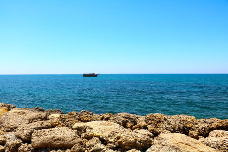 Blue Mediterranean sea in the morning. Imagens