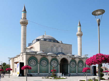 Konya, Turkey - 28 June 2017: Exterior view of Selimiye Mosque in Konya.