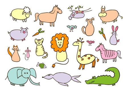 prairie dog: Animals cartoon set