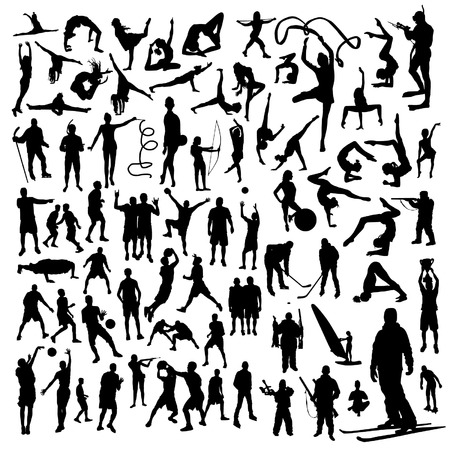 Sport-Silhouetten-Satz Standard-Bild - 38231803