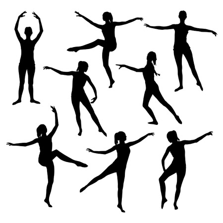 tänzerin: Silhouette von einem Mädchen tanzen Ballett