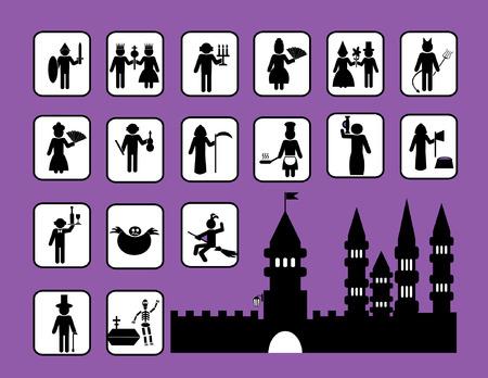 Castle illustration Set Vector
