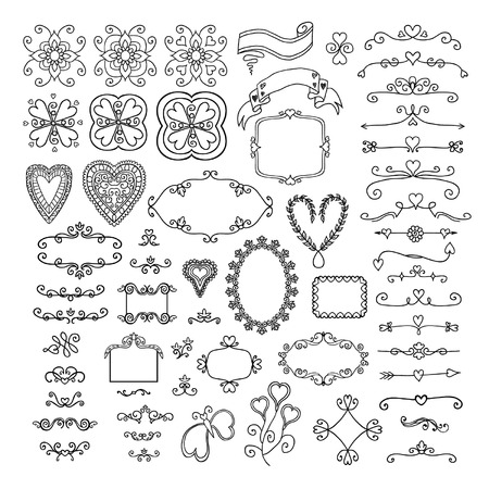 dividing: Ornate frames and scroll elements