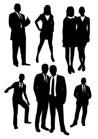 Business people silhouettes Illustration