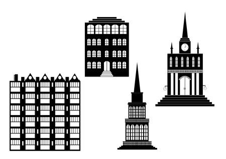 dormitory: City Buildings Illustration