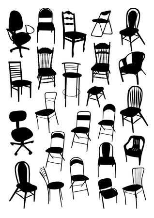 stools: Chair Silhouettes Set