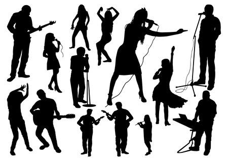 Music Silhouettes Set