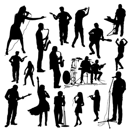 jazz dance: Music Silhouettes Set
