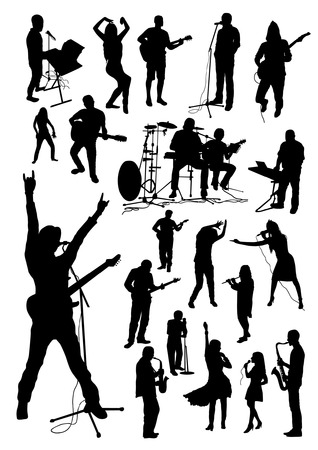 concierto de rock: M�sica Siluetas Set