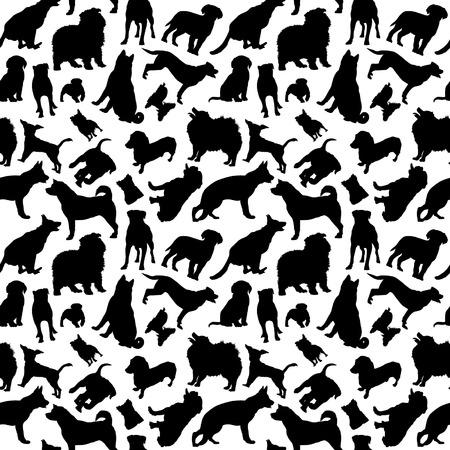 Hunde Silhouetten Nahtlose Standard-Bild - 38609364