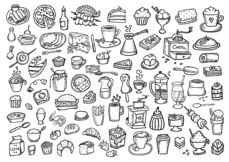 Food hand drawn set