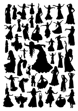 Exotic Dance Silhouettes Set