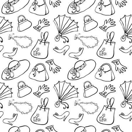 Hand Drawn Fashion Seamless Vector