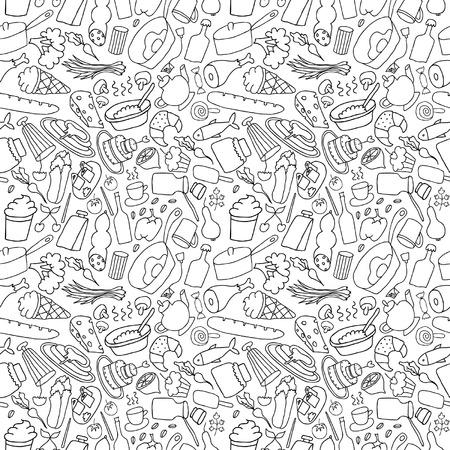 Dibujado a mano sin fisuras de alimentos Foto de archivo - 38830888