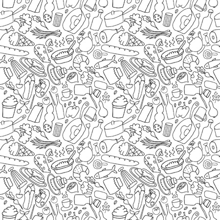 hand drawn food seamless