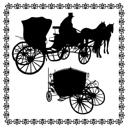 brougham: Vintage carriages silhouette