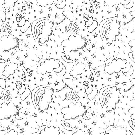 Weather hand drawn seamless