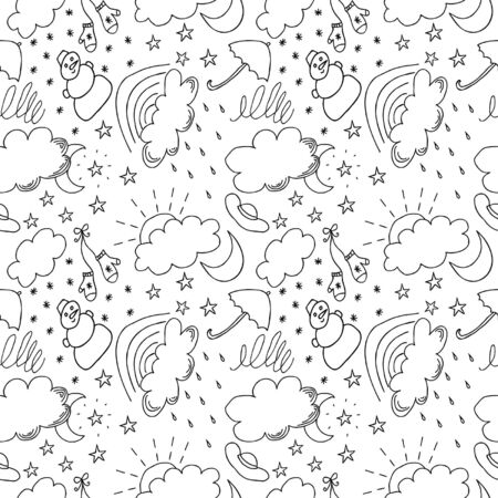 Weather hand drawn seamless