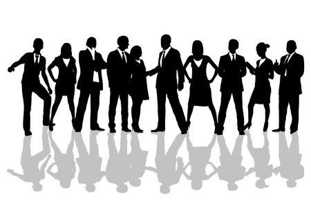 Business people silhouettes set