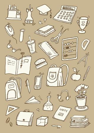 Школа: Рисованной Школьный набор