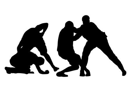 pelea: pelea callejera