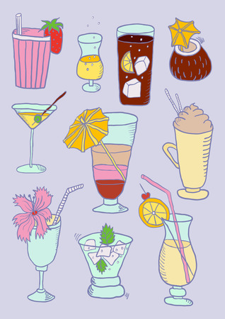 Hand Drawn Collection of Cocktails
